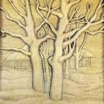 """Зима"" резьба по дереву"