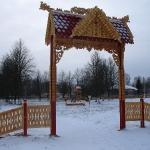 декоративные ворота - резьба по дереву
